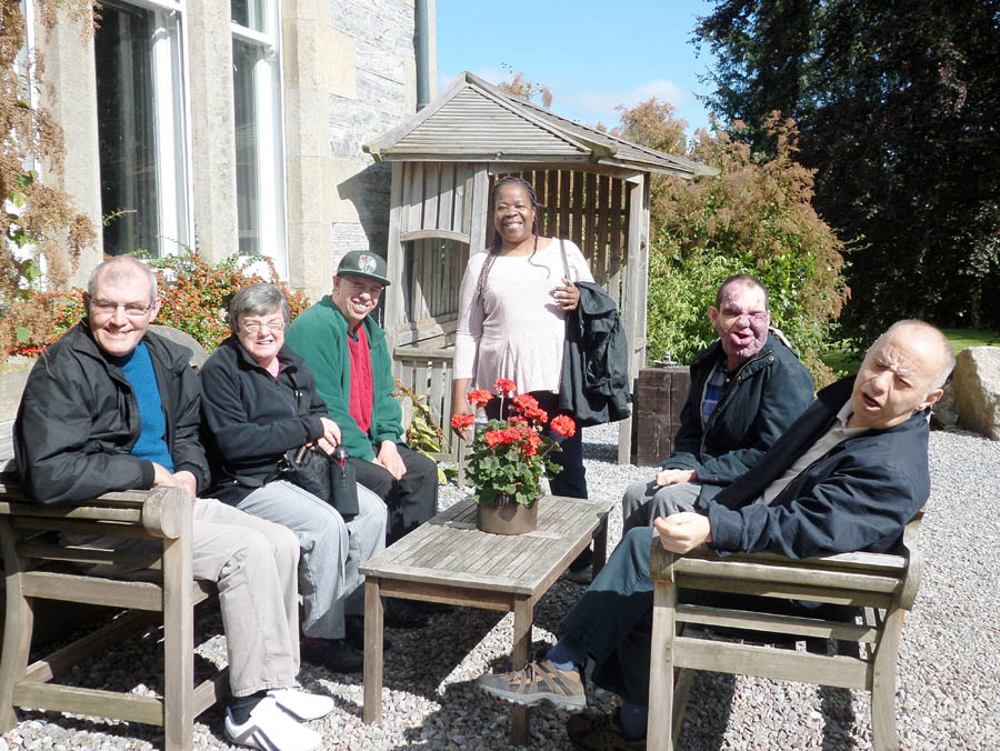 Residents enjoying the sun at our Edinburgh Care Home